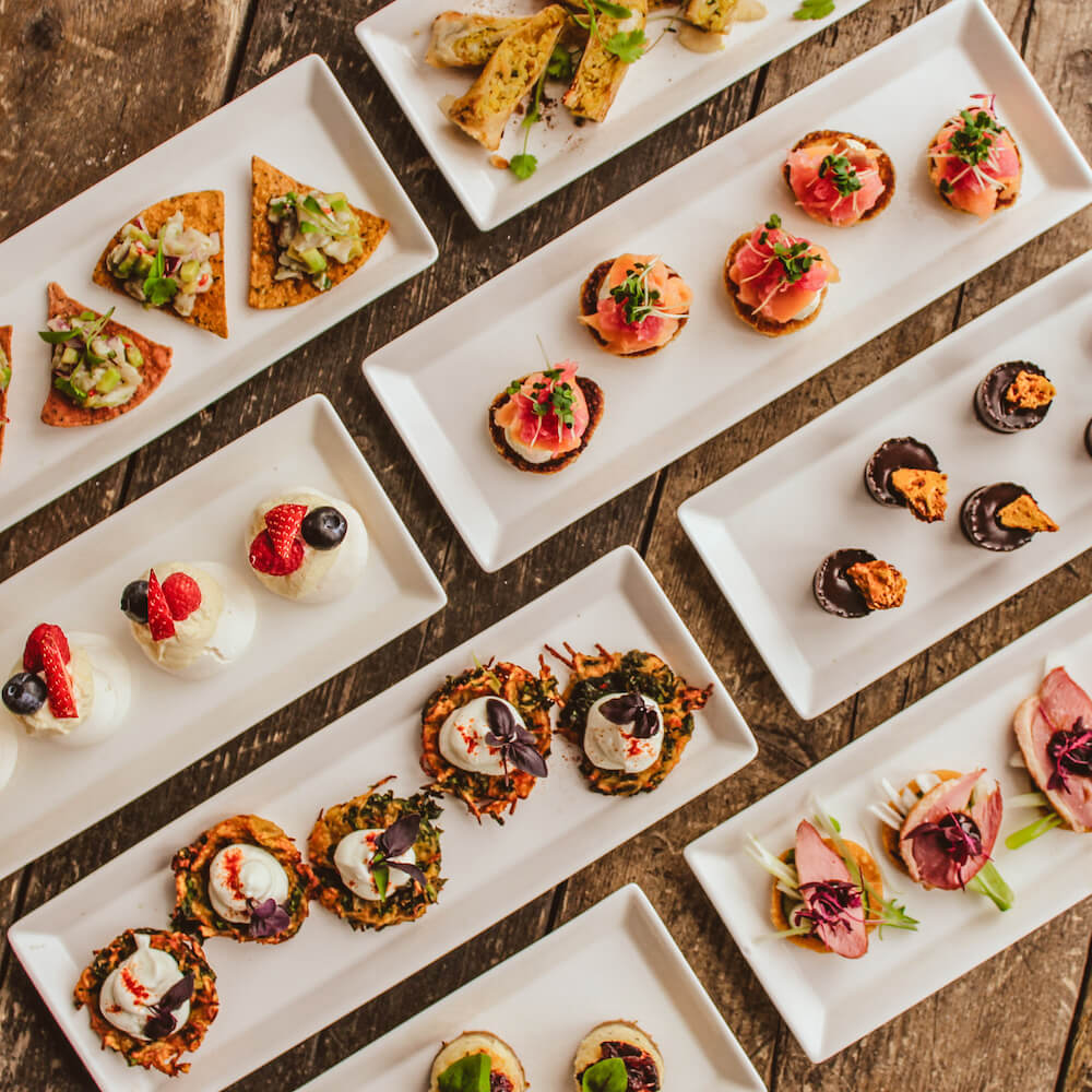 luxury canapes london