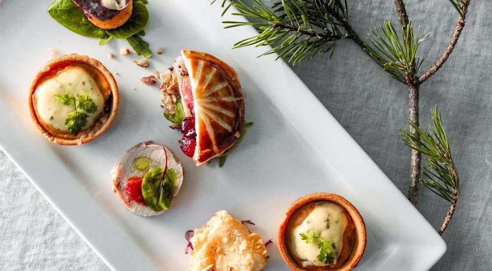 christmas canapes london