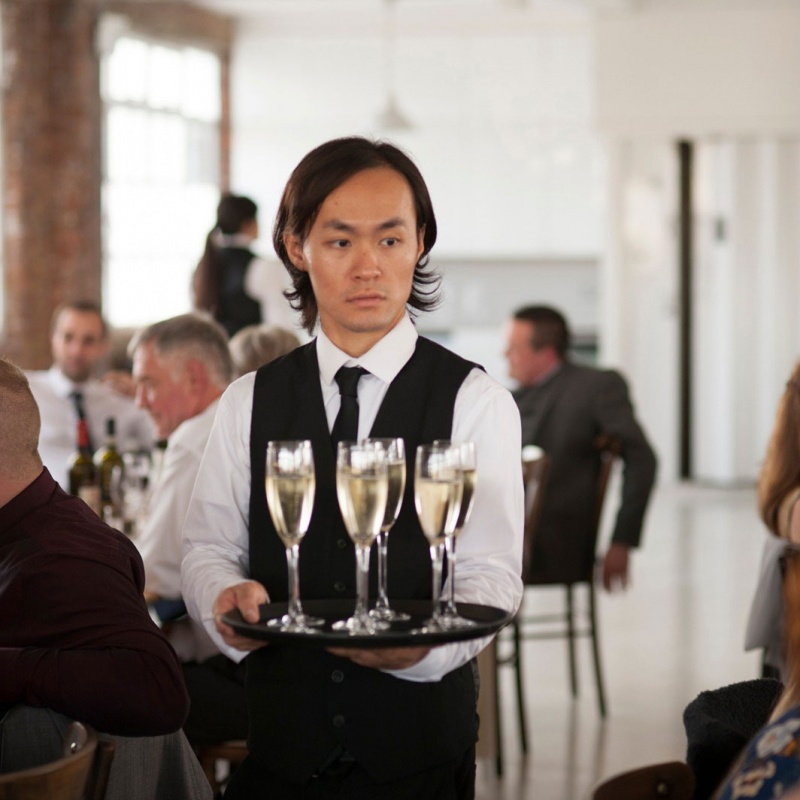 Waiter-with-Champagne-Private-&-Corporate-Catering